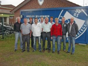 Der neu gewählte Vorstand des SV Erika-Altenberge